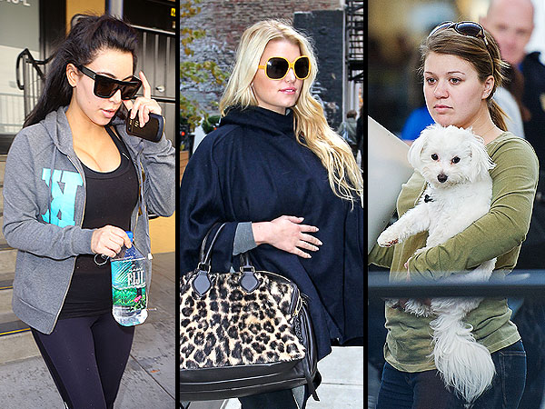 These Celebrity Moms Hid Their Baby Bumps with What?| Pregnancy, Eva Mendes, Jessica Simpson, Kate Middleton, Kelly Clarkson, Kim Kardashian, Nicole Richie, Ryan Gosling