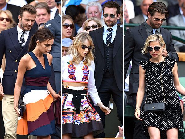 Victoria Beckham, David Beckham Wimbledon couples