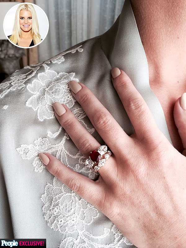 Jessica Simpson Wedding manicure