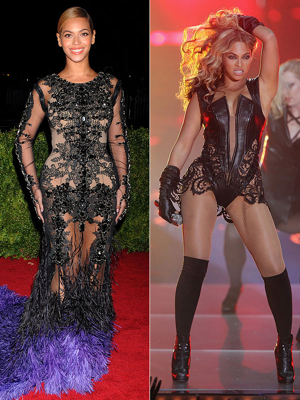 Beyonce outfits Rock N Roll hall of Fame