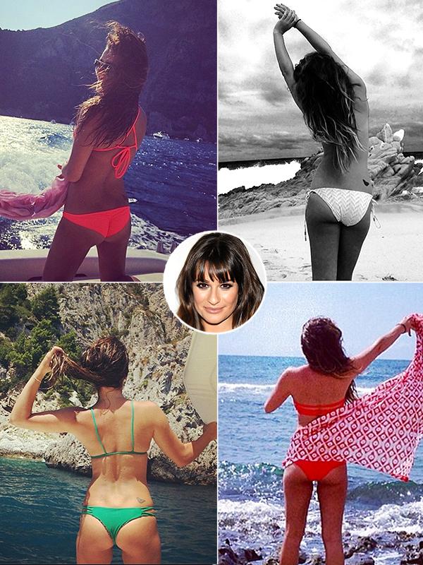 Lea Michele Bikini Butt Selfie