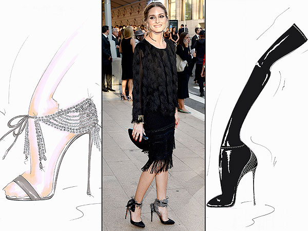 olivia palmero 600x450 Olivia Palermo Designs Super Chic Shoes for Aquazzura   See the First Sketches!
