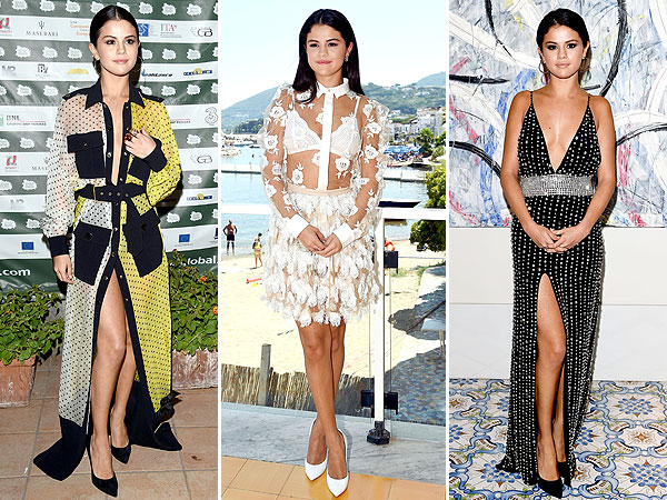 Selena Gomez  Ischia Global Film and Music Festival outfits