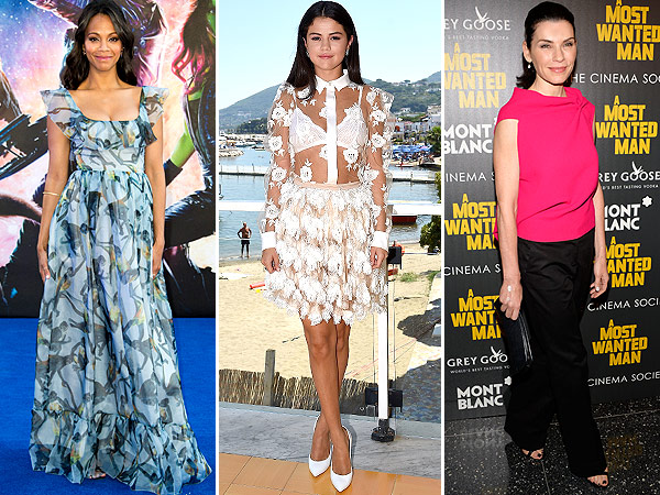 The Buzziest Looks of the Week, from the Gown We Loved to Some Questionable Pants | Julianna Margulies, Selena Gomez, Zoe Saldana