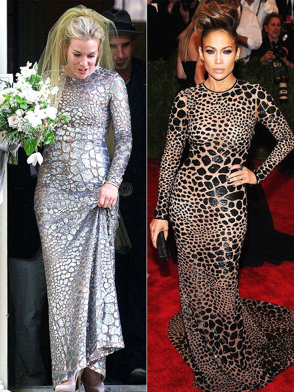 Piper Perabo wedding dress, Jennifer Lopez Michael Kors faceoff