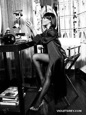 Angela Basset Violet Grey