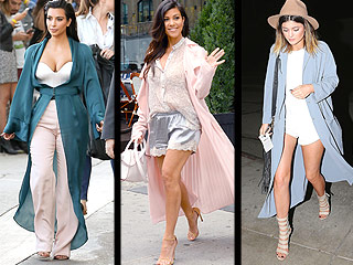 Kim's Bustier-and-Boudoir-Robe Outfit Is Part of a Greater Kardashian Trend (Be Warned)