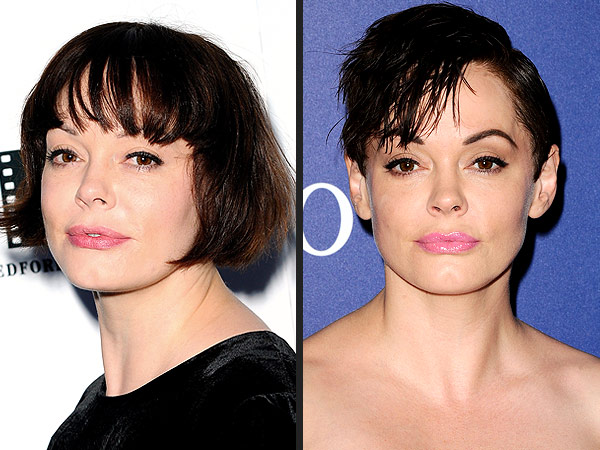 Rose McGowan pixie cut