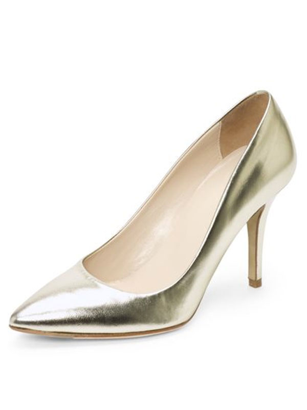 Club Monaco gold pumps