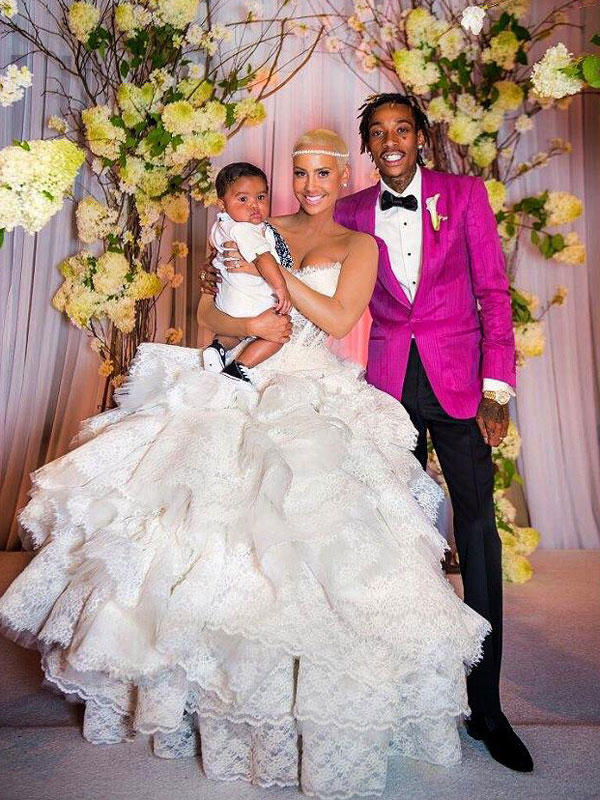 Amber Rose Wedding Dress Photos