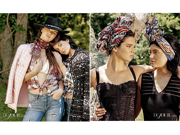 Kylie and Kendall Jenner DuJour Magazine