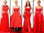 Here It Is: The Night's Hottest Hue (Decide Who Wore It Best!) | Christina Hendricks, Claire Danes, January Jones, Kaley Cuoco