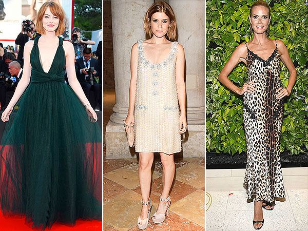 Emma Stone, Kate Mara and Heidi Klum red carpet looks