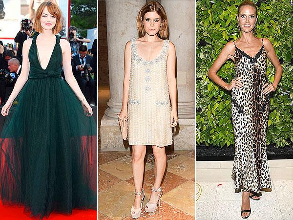 Emma Stone, Kate Mara and Heidi Klum red carpet looks