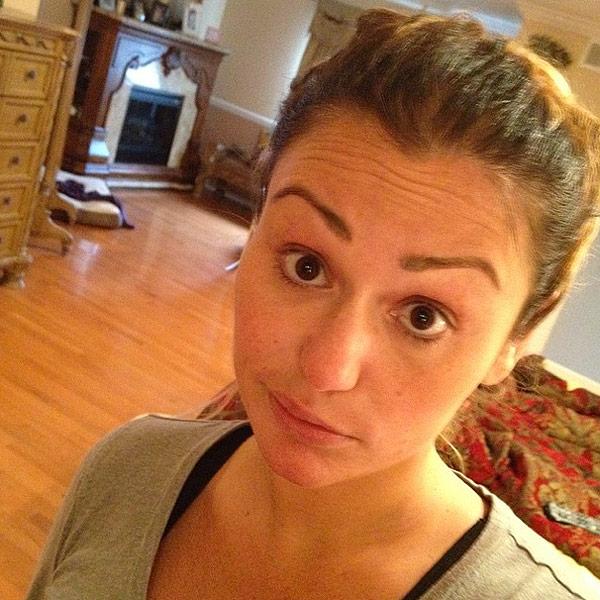 JWoww makeup-free selfie
