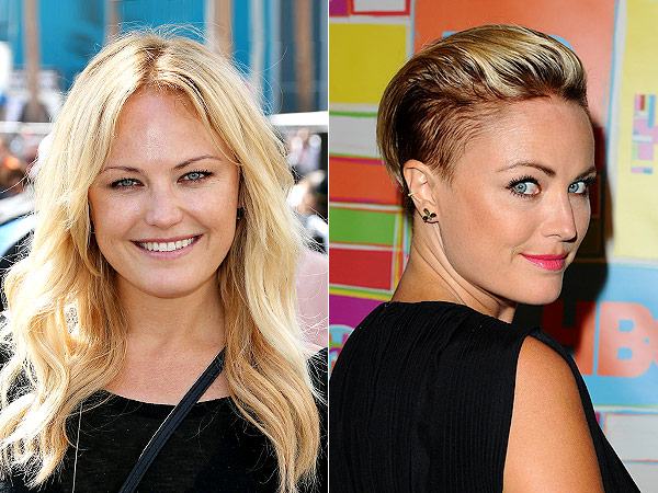Malin Akerman shaved head