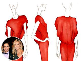 See a Sketch of Heidi Klum's Emmys Dress | Zac Posen, Heidi Klum, Zac Posen