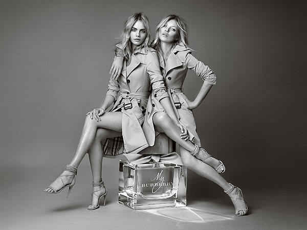 Cara Delevingne and Kate Moss Burberry Campaign