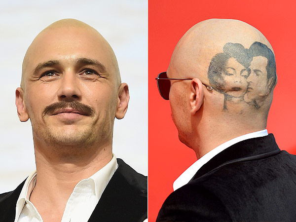 James Franco shaved head