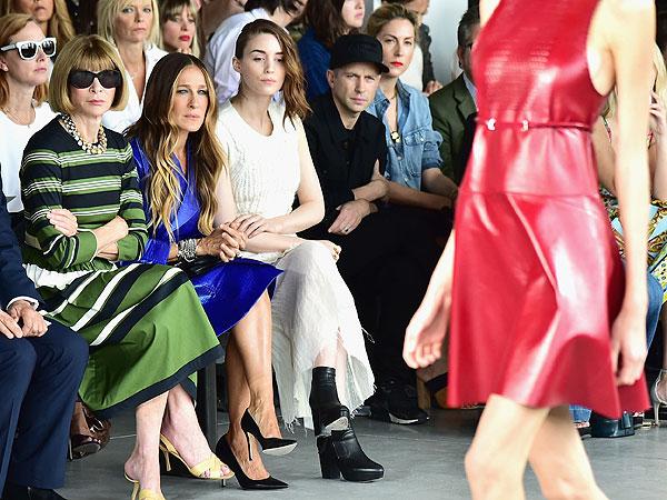 Anna Wintour, Sarah Jessica Parker, Rooney Mara Calvin Klein Front Row