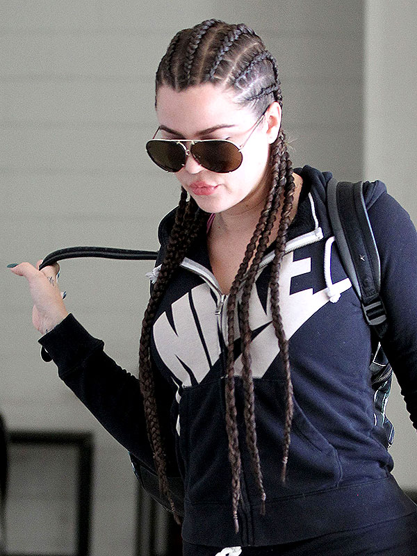 Khloe Kardashian cornrows