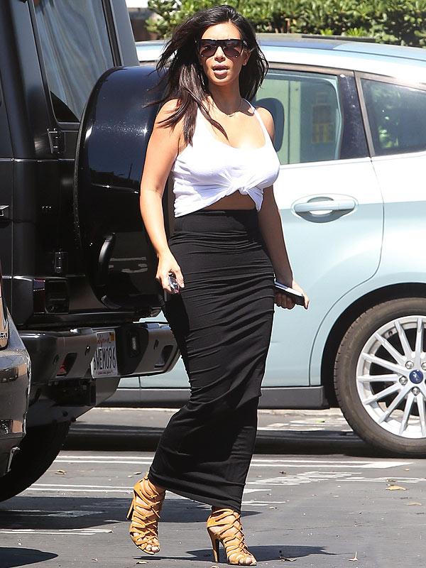 Kim Kardashian crop top