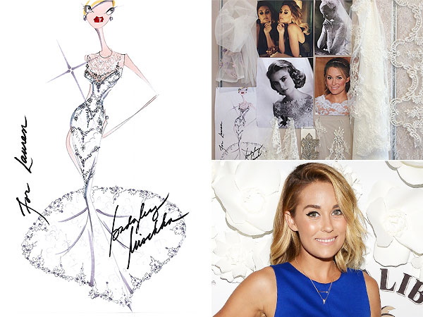 Lauren Conrad wedding dress photos