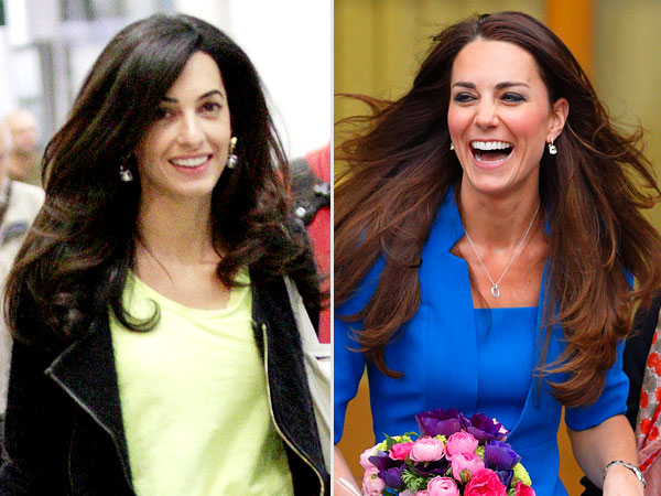 Amal and Kate Middleton hair
