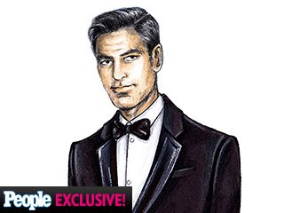 George Clooney's Wedding Tux: See An Exclusive Sketch and Get All the Details! | George Clooney