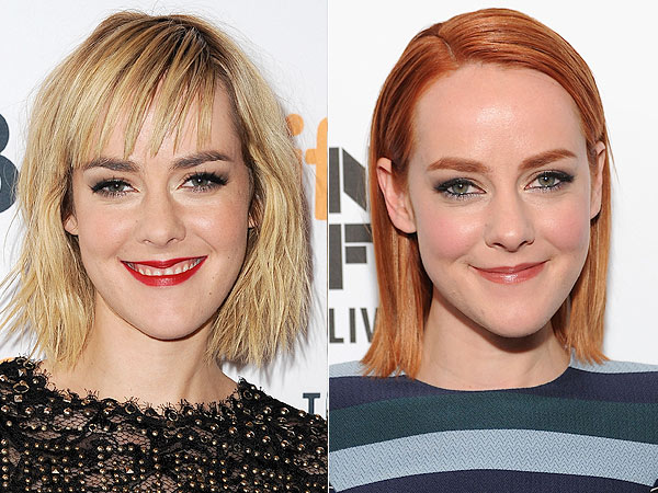 Jena Malone dyes hair red