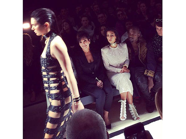 Kendall Jenner Balmain Paris Fashion Week