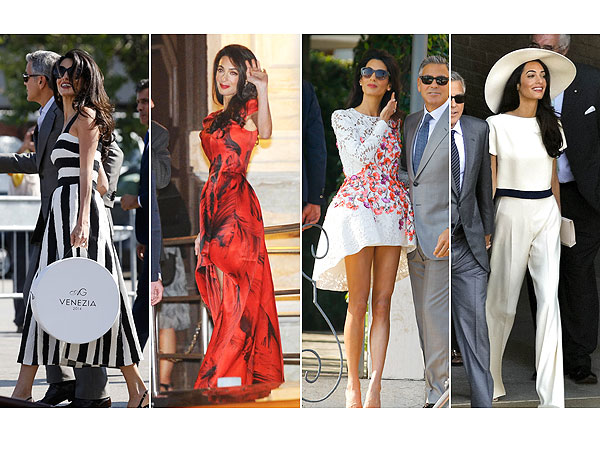 Amal Alamuddin wedding weekend style
