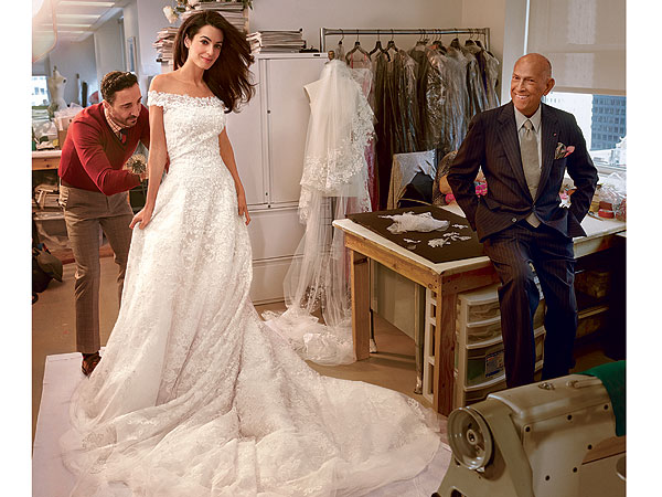 Amal Alamuddin wedding gown Vogue