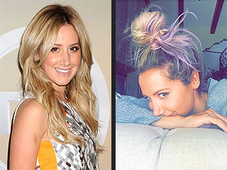 Ashley Tisdale Goes Purple! See Her Fun New Hair Hue