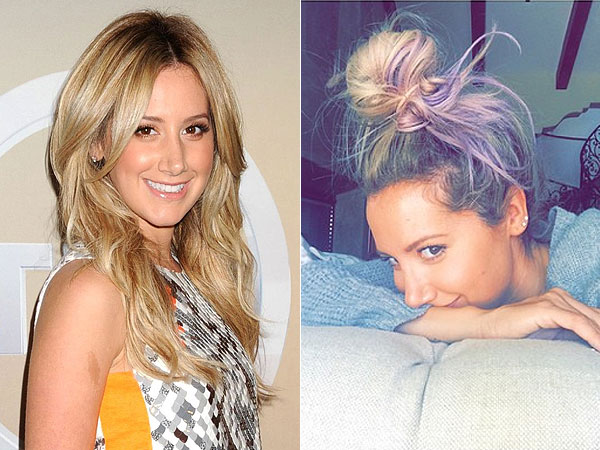 Ashley Tisdale hair change