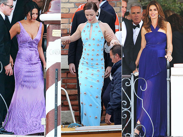 Luciana Barrose, Emily Blunt and Cindy Crawford George Clooney's wedding