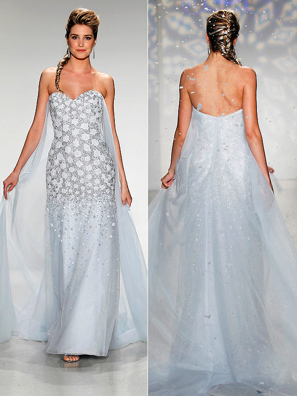 Frozen Elsa wedding gown