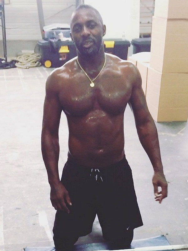 Idris Elba shirtless