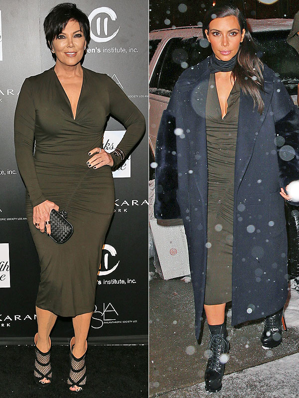 Kris Jenner and Kim Kardashian Donna Karan faceoff