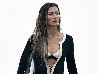 Gisele Bündchen Bares Her Butt in Chanel Wetsuit for Chanel No. 5 Ads