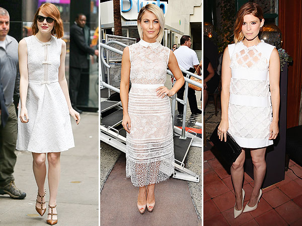 Kate Mara white dress