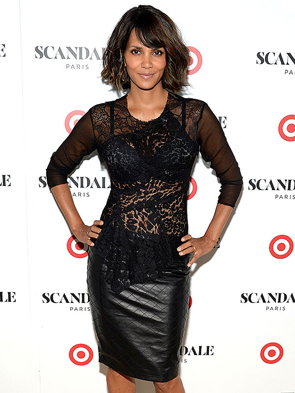 Halle Berry unveils 'Scandale Paris' Lingerie at Laduree Soho