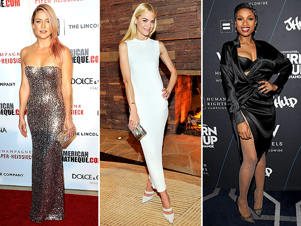Kate Hudson's Sparkly Dress, Jennifer Hudson's outfit mishap