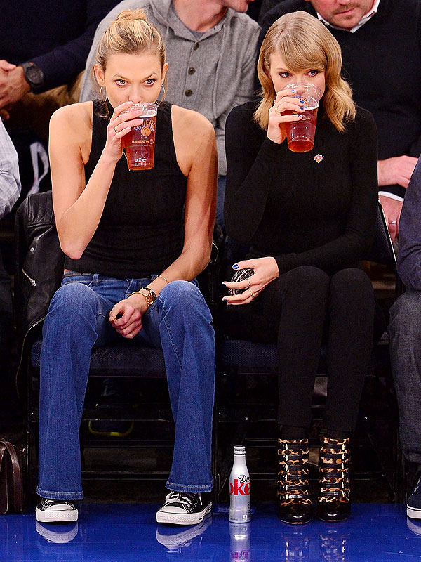 Karlie Kloss and Taylor Swift Knicks Game