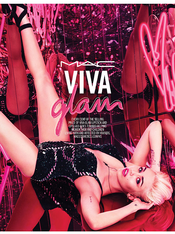 Miley Cyrus Mac Viva Glam campaign