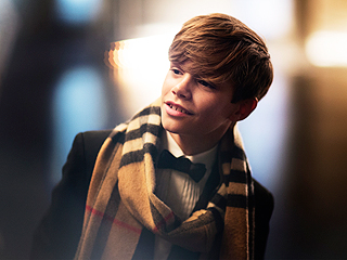 Romeo Beckham's Burberry Holiday Campaign Is Too Cute! (VIDEO)