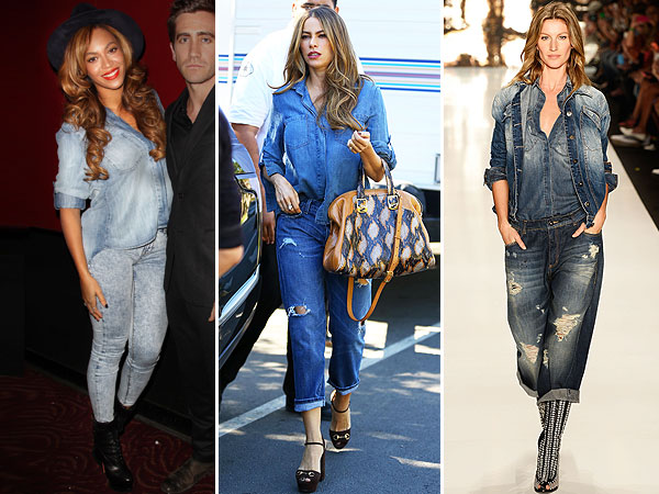 Beyonce, Sofia Vergara and Gisele denim-on-denim outfits