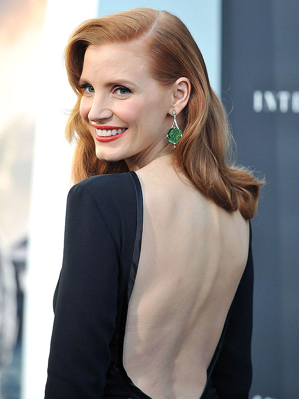 JEssica Chastain holiday party