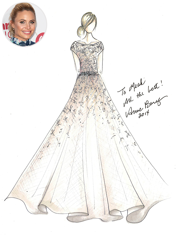 Leah Pipes Anne Barge Wedding Dress Sketch