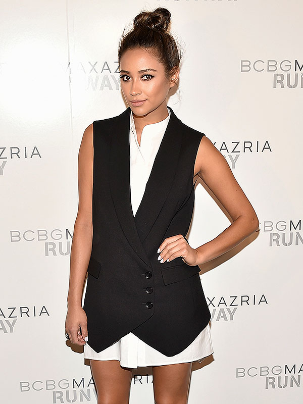Shay Mitchell attends BCBGMAXAZRIA during Mercedes